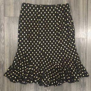 Who What Wear Polka Dot Pencil Skirt